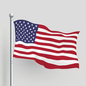 3d vector American flag — Stock Vector