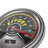 Effort conceptual meter indicate hundred percent — Stock Vector