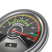 Positive energy conceptual meter — Stock Vector