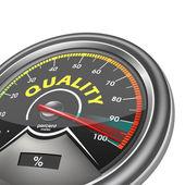 Kwaliteit meter honderd procent — Stockvector