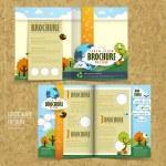 Постер, плакат: Vector concept of environmental brochure design