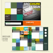 Vector brochure design with keyboard and squares — Stock Vector