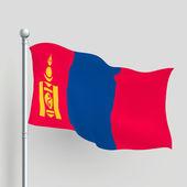3d vector Mongolia flag — Stock Vector