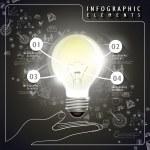 Vector idea bulb infographic elements — Stock Vector #47611245