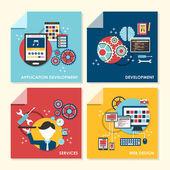 Flat design concept illustration for web design and development — Stock Vector