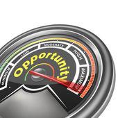 Vector opportunity conceptual meter indicator  — Stock Vector
