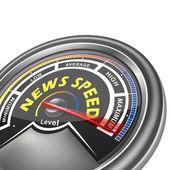 Vector news speed conceptual meter indicator — Stock Vector