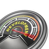 Vector development conceptual meter indicator — Stock Vector