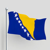 3d vector Bosnia and Herzegovina flag — Stock Vector