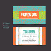 Professional vector business card set — Stock Vector