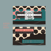 Fancy vector business card set — Stock Vector