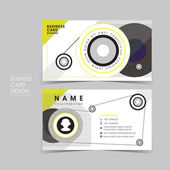 Vector business card set with design sense — Vector de stock
