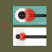 Strong contrast vector business card set — Stock Vector