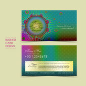 Bohemian style vector business card — Stock Vector