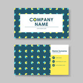 Vector business card design template of geometry — Stock Vector