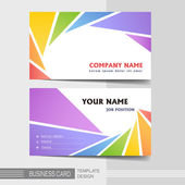 Stylish business card template — Stock Vector
