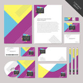 Vector abstract corporate identity set graphic design — Stock Vector