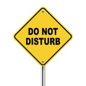 3d yellow roadsign of do not disturb — Stock Vector