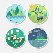 Flat design concept icons of ecology — Stock Vector #49799565