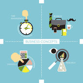 Business concepts in flat style — Stock Vector