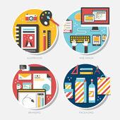 Flat design for branding, illustration, packaging, web design — Stock Vector