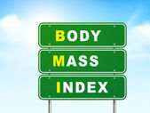 3d body mass index road sign  — Vector de stock