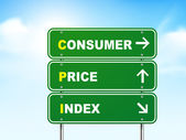 3d consumer price index road sign — Vecteur