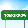 Постер, плакат: 3d tomorrow road sign