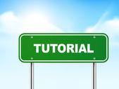 3d tutorial road sign — Stock Vector