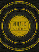 Music all night poster — Stock Vector