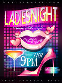 Ladies night poster  — Stock Vector