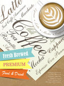 Fresh brewed coffee poster — Stock Vector