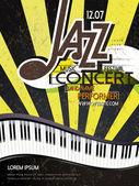 Jazz concert poster — Stock Vector