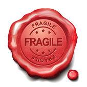 Fragile red wax seal  — Stock Vector