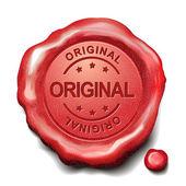 Original red wax seal — Stock Vector