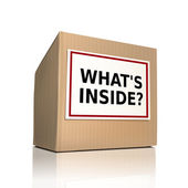 What is inside on a paper box — Stock Vector