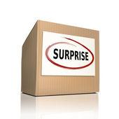 Surprise on a paper box  — Vector de stock
