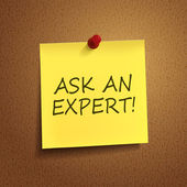 Ask an expert words on post-it  — Stock Vector