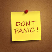 Do not panic words on post-it  — Stock Vector