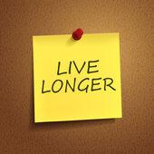 Live longer words on post-it  — Stock Vector