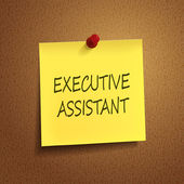 Executive assistant words on post-it  — Stock Vector