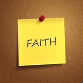Faith word on post-it — Stock Vector