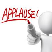 Applause written by a man  — Stock Vector