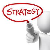 Strategie, die von einem mann geschrieben — Stockvektor