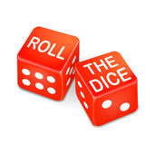 Roll the dice words on two red dice  — Vecteur