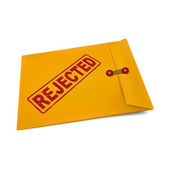 Rejected stamp on manila envelope  — Stock Vector
