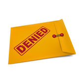 Denied stamp on manila envelope  — Stock Vector
