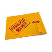 Franchise secrets on manila envelope  — Stock Vector