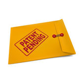 Patent pending on manila envelope — Stock Vector