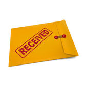 Received on manila envelope — Stock Vector